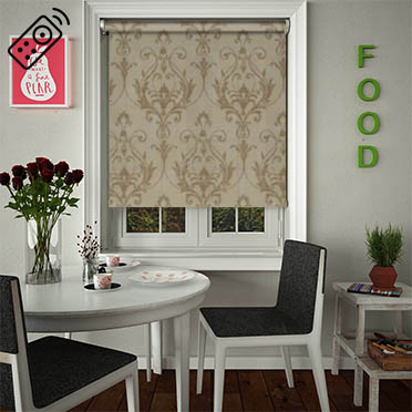 Distinction Champagne Motorised Roller Blind