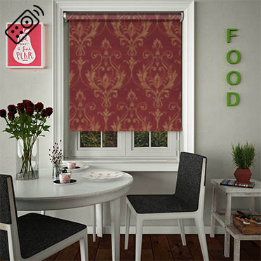 Distinction Scarlet Motorised Roller Blind