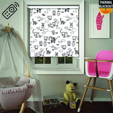 Farmyard Milk Motorised Roller Blind