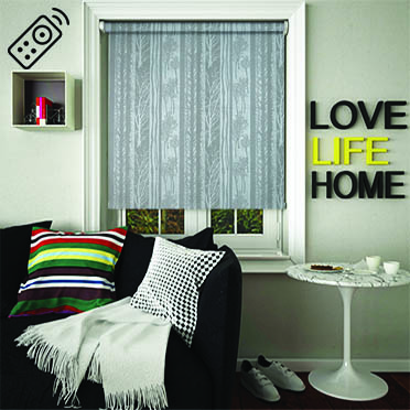 Forest Grey Motorised Roller Blind
