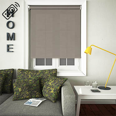 Husk Solar Chestnut Motorised Roller Blind