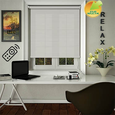 Lattice Solar Stone Motorised Roller Blind