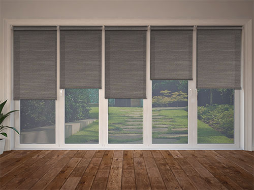 Linenweave Graphite Bifold Door Blinds