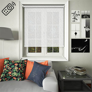 Lupin Chalk Motorised Roller Blind