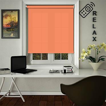 Luxe Burnt Orange Motorised Roller Blind