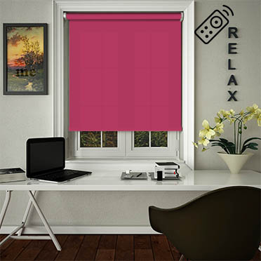 Luxe Fuschia Motorised Roller Blind