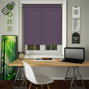 Luxe Mulberry Motorised Roller Blind