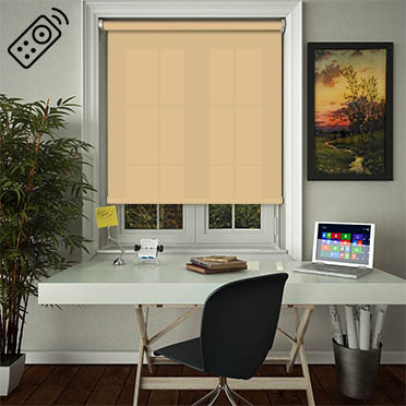 Luxe Muted Gold Motorised Roller Blind