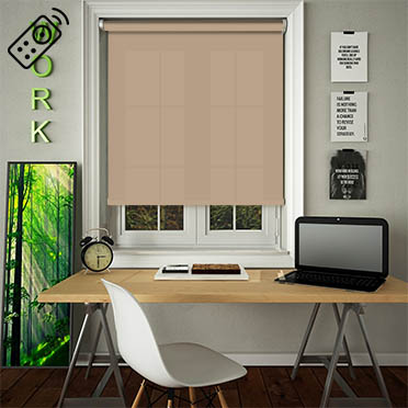 Luxe Old Gold Motorised Roller Blind