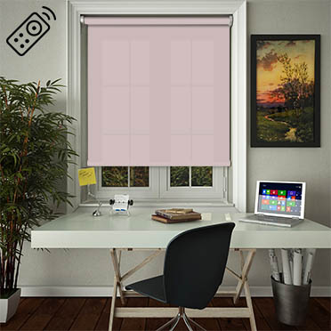 Luxe Orchid Motorised Roller Blind