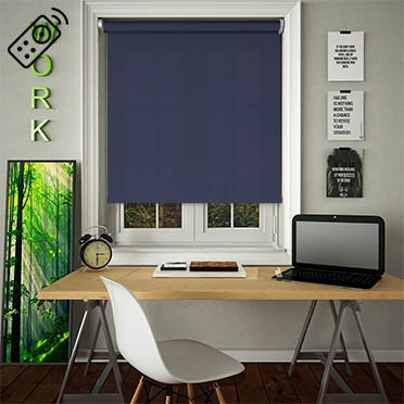 Madre Navy Motorised Roller Blind