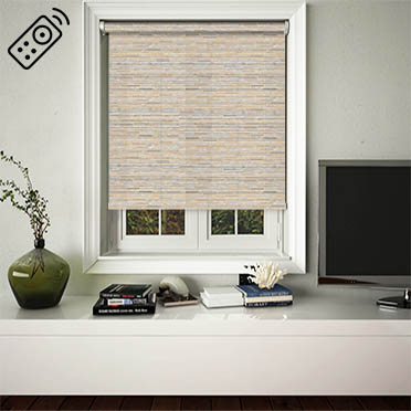 Manasulu Nutmeg Motorised Roller Blind
