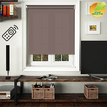 Mirage Solar Brown Motorised Roller Blind
