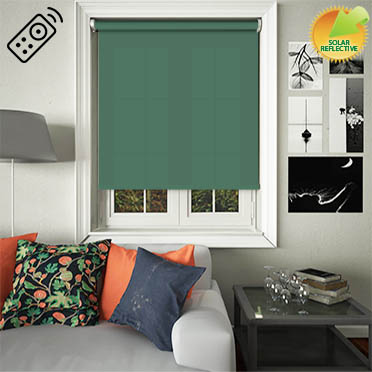 Mirage Solar Hunter Green Motorised Roller Blind