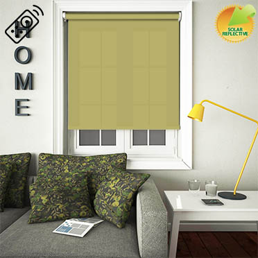 Mirage Solar Lime Motorised Roller Blind