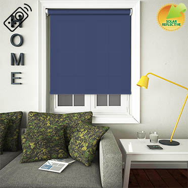 Mirage Solar Navy Motorised Roller Blind