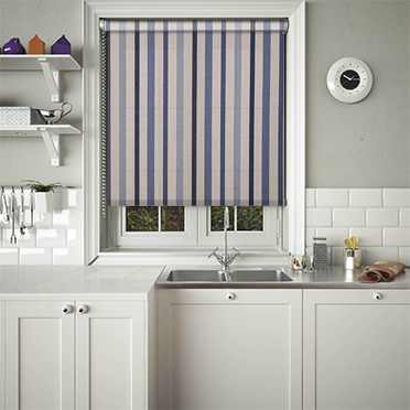 Nautical Blue Roller Blinds Lifestyleblinds