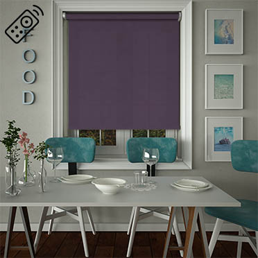 Nova Mulberry Motorised Roller Blind