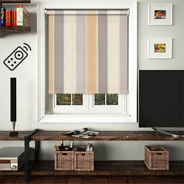 Obsession Natural Motorised Roller Blind