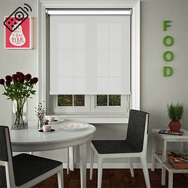 Orchestra Snowdrop Motorised Roller Blind