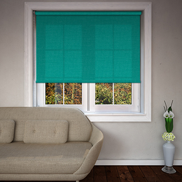 Origin Bright Turquoise Roller Blind