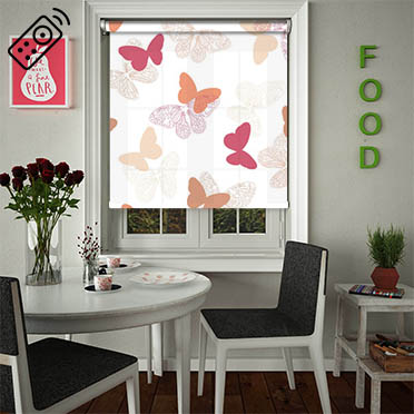 Papilon Summer Haze Motorised Roller Blind