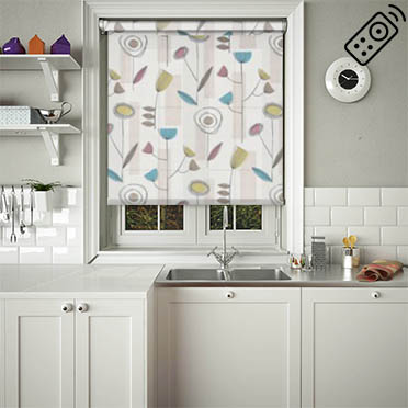 Retro Amethyst Motorised Roller Blind