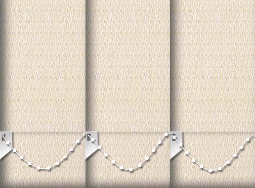 Roko Cream Replacement Vertical Blind Slats