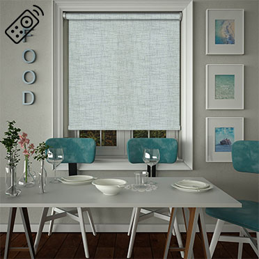 Sheer Grain Duck Egg Motorised Roller Blind
