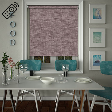 Sheer Grain Grape Motorised Roller Blind