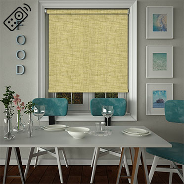 Sheer Grain Pistachio Motorised Roller Blind