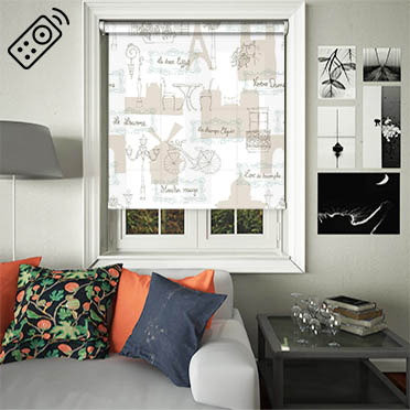 Sight Seeing Motorised Roller Blind