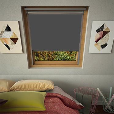 Smoldering Charcoal Prima For Velux Windows Skylight Blinds