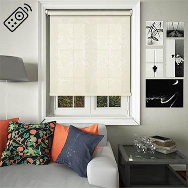 Sphynx Cream Motorised Roller Blind