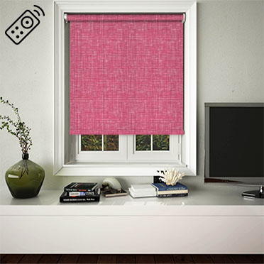 Vignette Fuschia Motorised Roller Blind