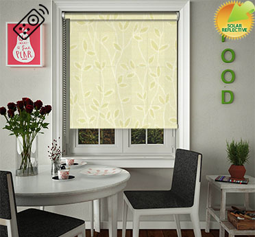 Vines Solar Ecru Motorised Roller Blind