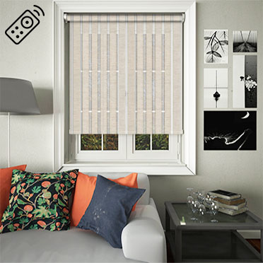Voove Linen Motorised Roller Blind