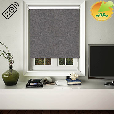 Yukon Charcoal Motorised Roller Blind