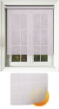 Alie White Replacement Vertical Blind Slat