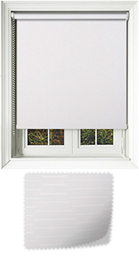 Amour White Roller Blind
