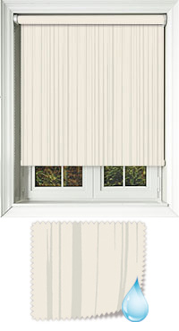 Aqua Ripple Clotted Cream Cordless Roller Blind