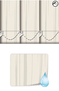 Aqua Ripple Clotted Cream Vertical Blind