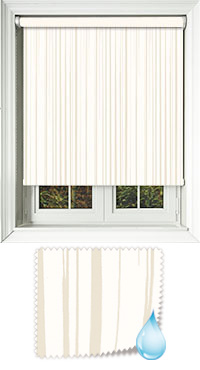 Aqua Ripple Ivory Motorised Roller Blind