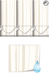 Aqua Ripple Ivory Replacement Vertical Blind Slat