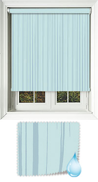 Aqua Ripple Misty Blue Roller Blind