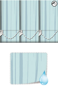 Aqua Ripple Misty Blue Wooden Blind
