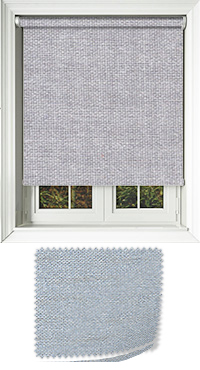 Asteroid Silver Cordless Roller Blind