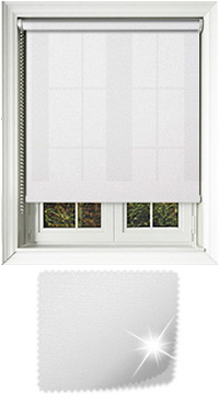 Asteroid White Vertical Blind