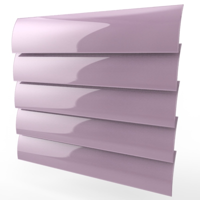 Ballet Pink Gloss Replacement Vertical Blind Slat