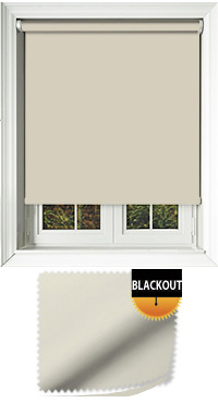 Blackout Angora Motorised Roller Blind